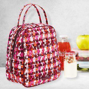 Vera Bradley Insulated Lunch Bag Pink Orange Print